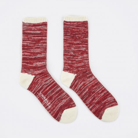 Hikisoroe Melange Sock - Red