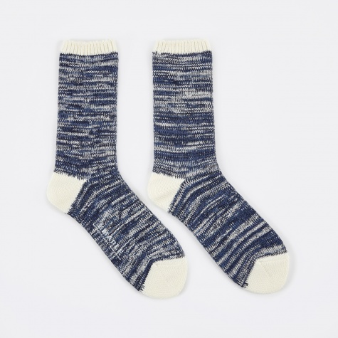Hikisoroe Melange Sock - Navy