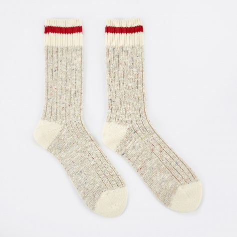 Heritage Speckle Ribbed Sock - Beige