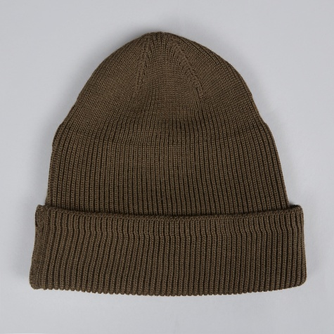 Knitted Hat - Olive Merino