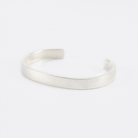Flat 7mm Bracelet - Brushed Silver