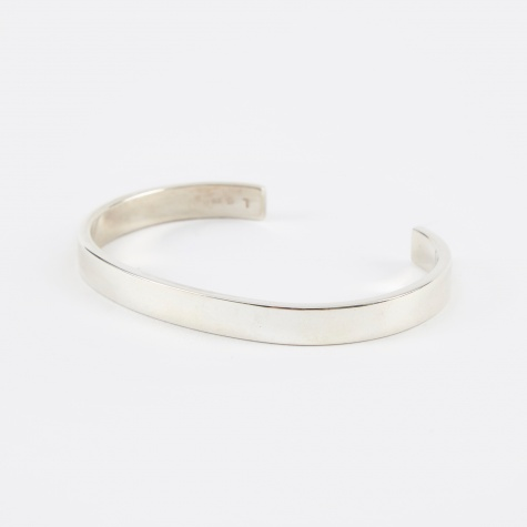 Flat 7mm Bracelet - Polished Silver