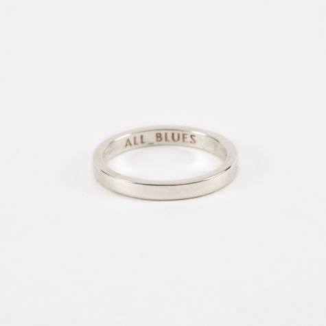 Flat 3mm Ring - Polished Silver
