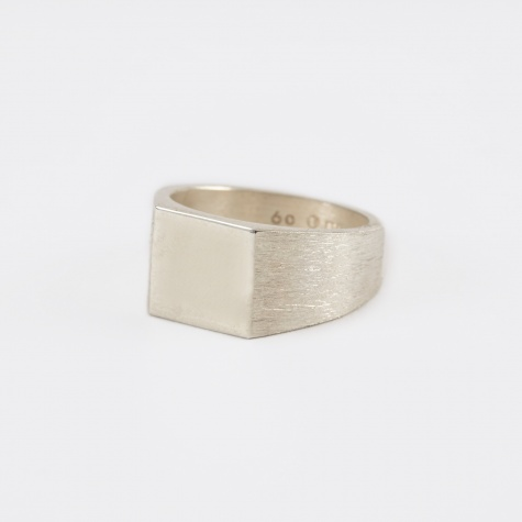 Platform Ring - Polished Top/Brushed Sides Silver
