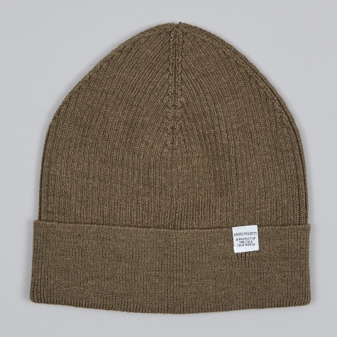 Rib Watch Beanie - Dried Olive