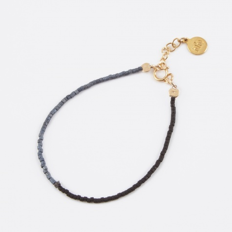 Two Tone Raw Black Diamond Bracelet - Black Slate (BDGB1
