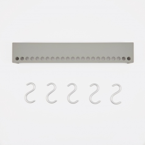 So-Hooked Wall Rack 60cm - Rubber Grey