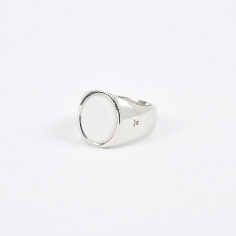 Oval Ring - White/Silver