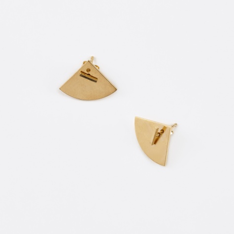 Earring CRESCENT Back (Pair) - 18K Gold Plated