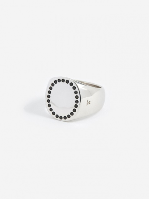 Circle Ring - Silver/Black Spinel