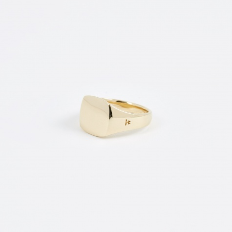 Mini Cushion Ring - 9K Gold