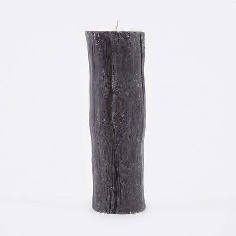 Pillar Candle Charcoal 20cm - Simply Black