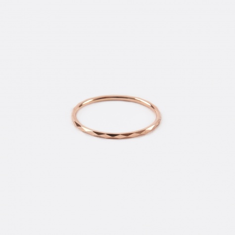 Promise Ring B - 10K Rose Gold