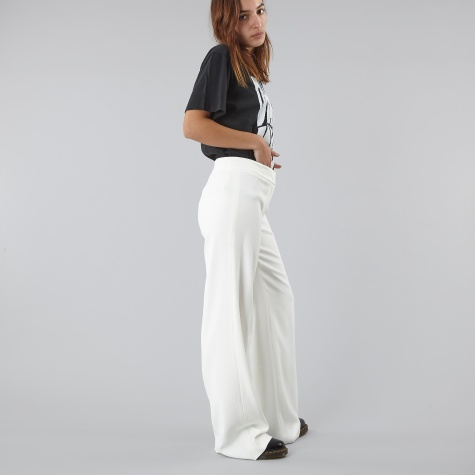 Flat Front Wide Leg Pant - Winter White