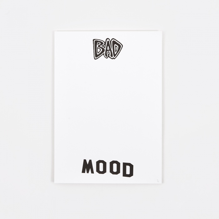 Goods By Goodhood Screenprinted Poster - Bad Mood (Image 1)