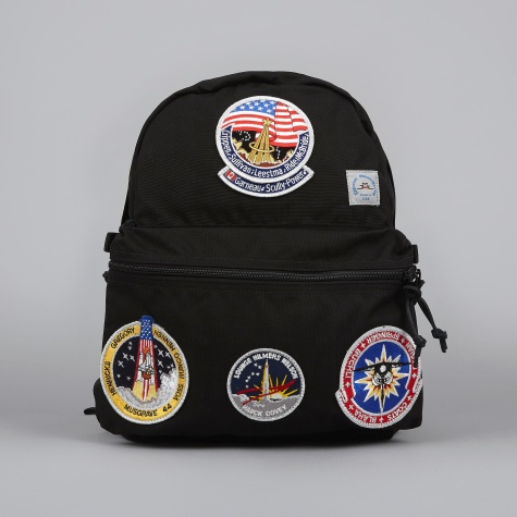 Mountaineering Day Pack w/ Vintage NASA Patch - Black