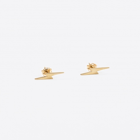 Lightining Bolt Earring - Gold