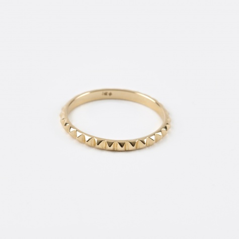 Pyramid Ring - 14K Gold