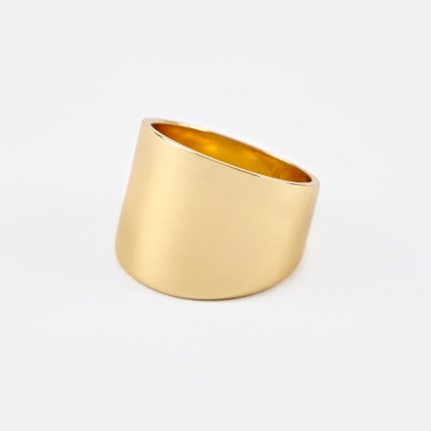 Cigar Band Ring - 14K Gold