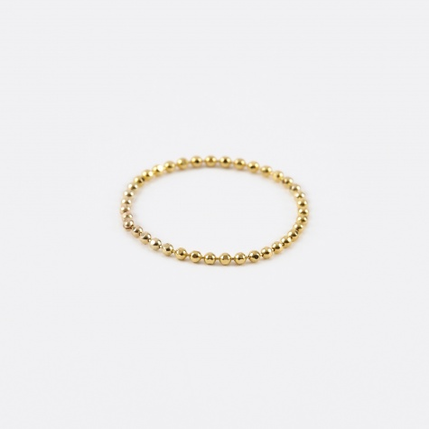 Soft Ball Chain Ring - 14K Gold