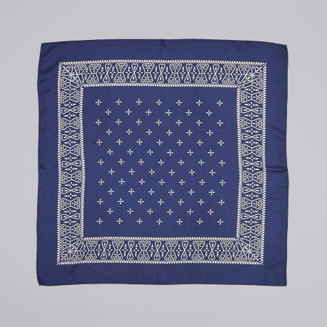 Silk Bandana - Navy
