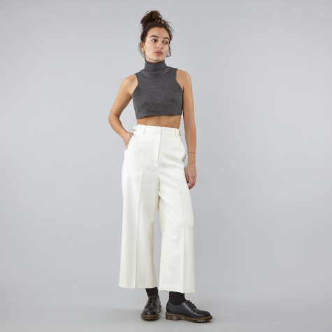 Cropped Wide Leg Pant - Silica