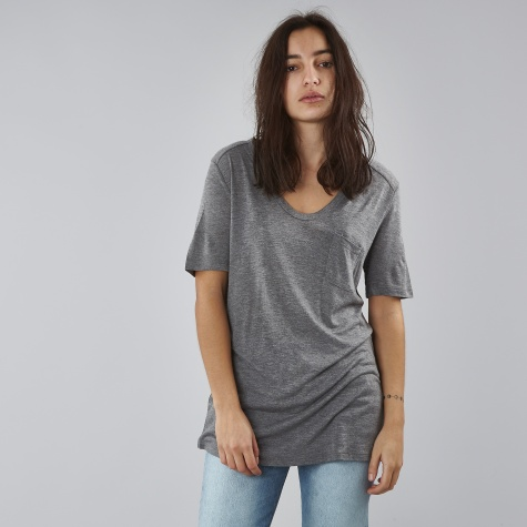 T By Alexander Wang Classic T-Shirt With Pocket - Heather Grey