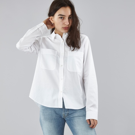 T By Alexander Wang Cotton Poplin L/S Shirt - White