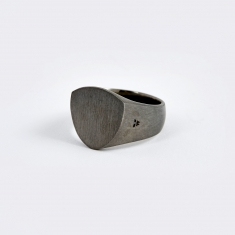Tom Wood Shield Ring - Black Edition