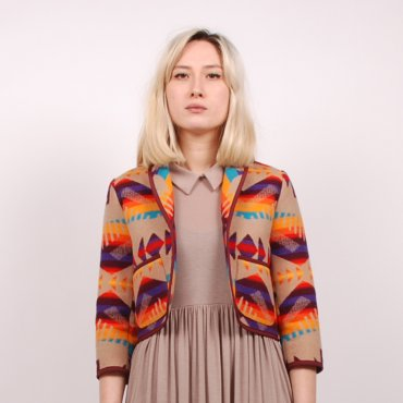 Pendleton meets Opening Ceremony Patch Pocket Blazer - Tan (Image 1)