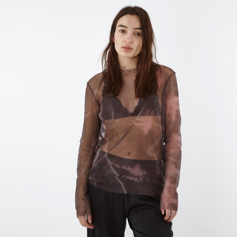 Camo Tie Dye Top - Black/Khaki