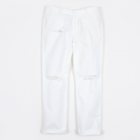 Damaged Chino Pant - White
