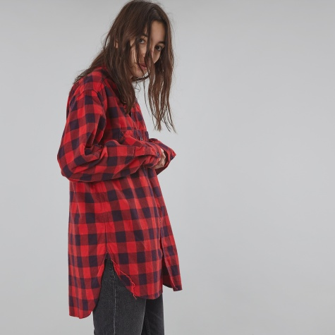 Cotton Check Shirt - Red