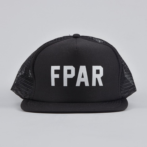 College Mesh Cap - Black