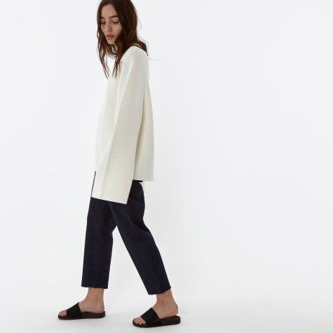 Bell Sleeve Sweater - White