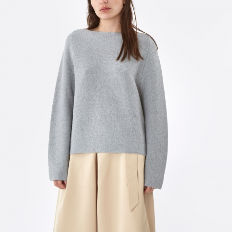 Bell Sleeve Sweater - Grey