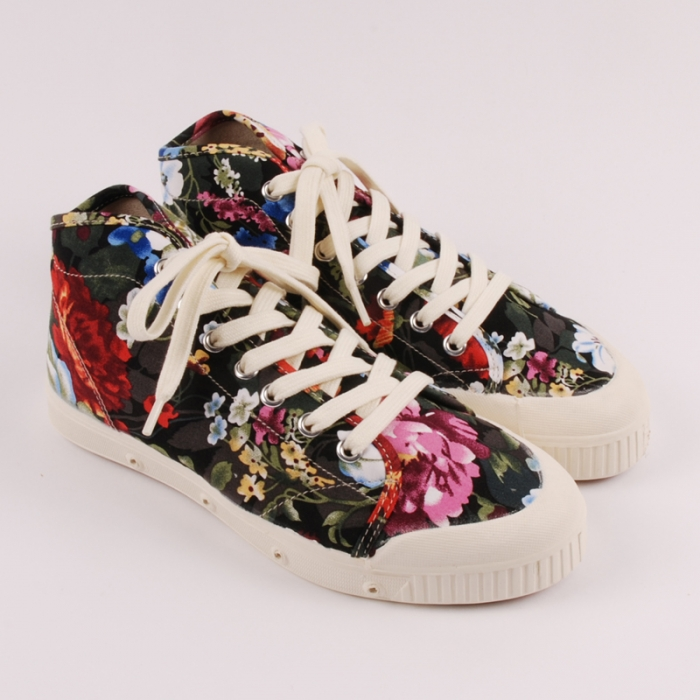 Spring Court B1 Flower Print - Black/Multi (Image 1)
