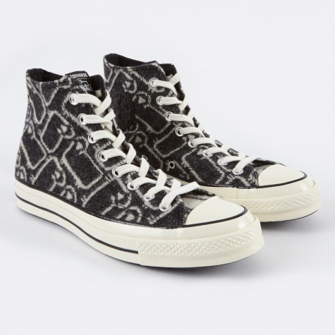 1970s Chuck Taylor All Star Hi Woolrich - Black