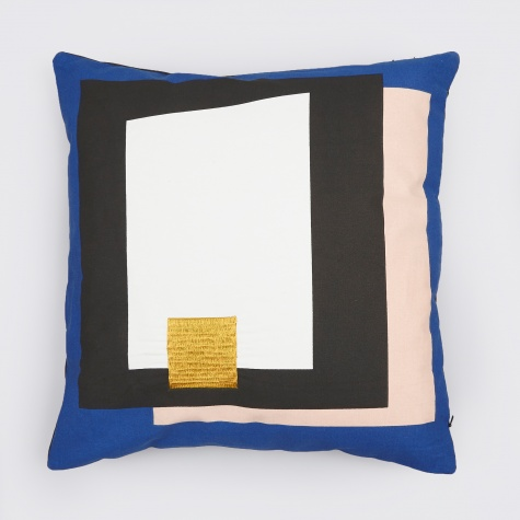 Fragment Cushion - Blue