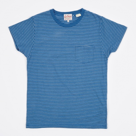 1950s Sportswear Tee - Blue/White Strip