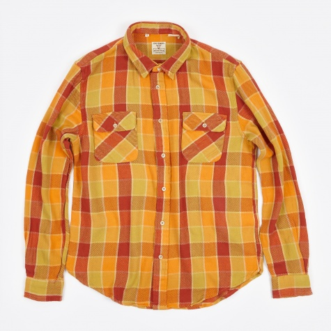 Shorthorn Shirt - Orange Check