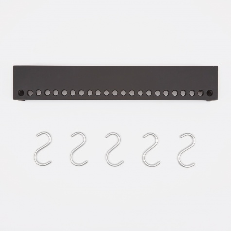 So-Hooked Wall Rack 60cm - Rubber Black