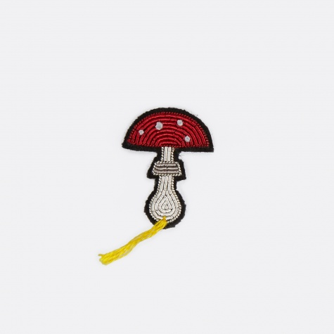 Mushroom Embroidered Pin