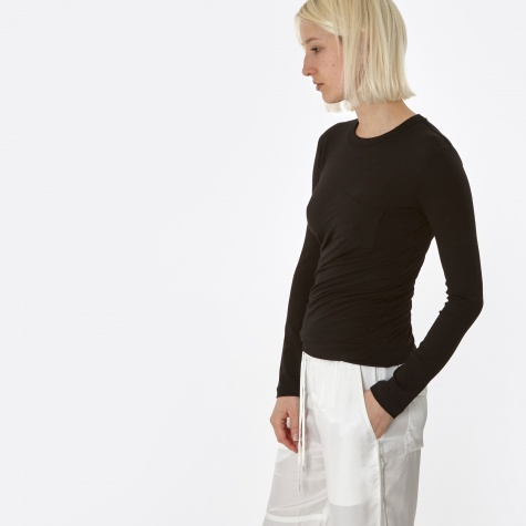 T By Alexander Wang Stretch Compact Crepe Jersey Torqued L/S - B