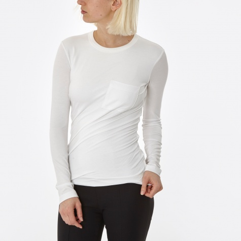 T By Alexander Wang Stretch Compact Crepe Jersey Torqued L/S - W