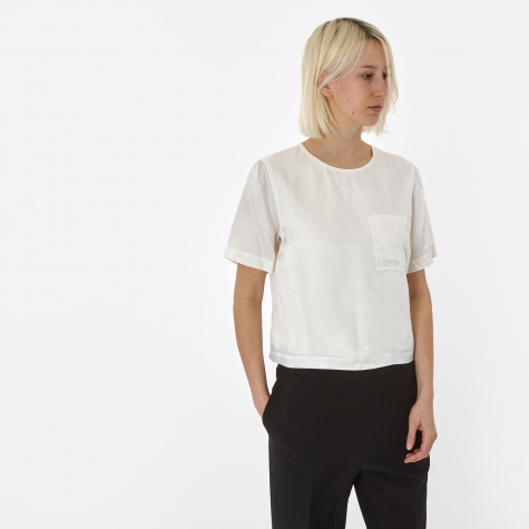 T By Alexander Wang Washed S/S Top - White