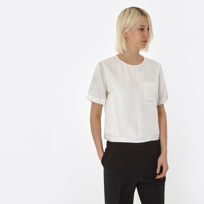 Alexander Wang T By Alexander Wang Washed S/S Top - White (Image 1)