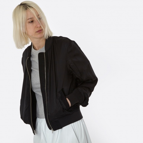 T By Alexander Wang Washed Bomber Jacket - Black