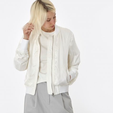 T By Alexander Wang Washed Bomber Jacket - White