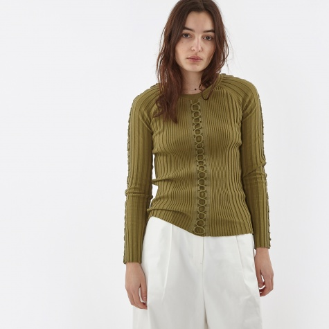 Engineered Rib Pullover - Khaki